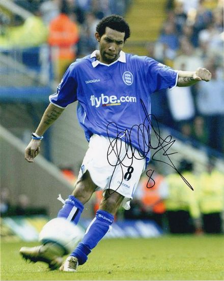 Jermaine Pennant, Birmingham City, signed 10x8 inch photo.